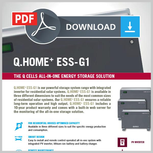 Gegevensblad Q.Home+ ESS-G1